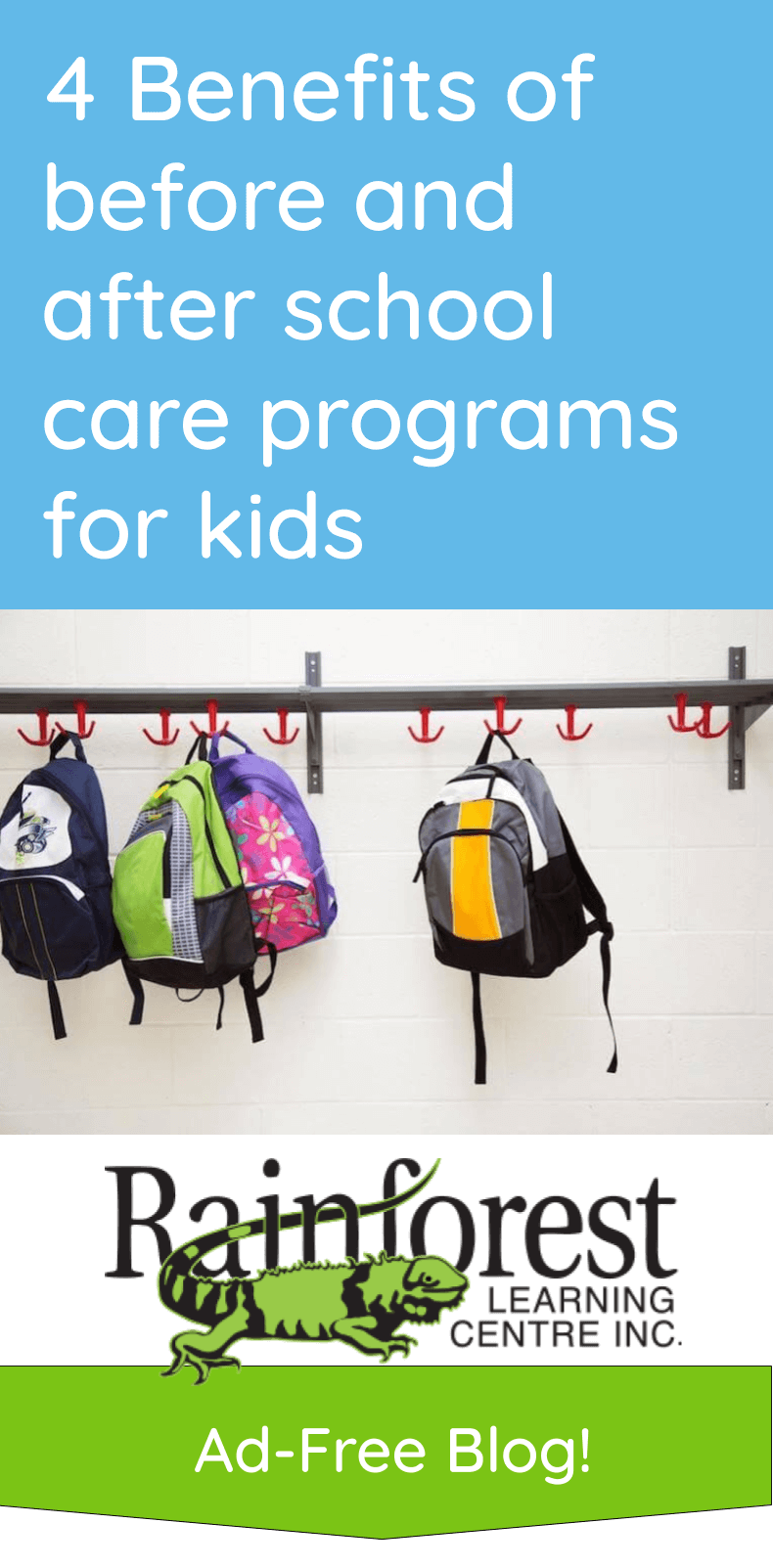 4 Benefits of before and after school care programs for kids - article pinterest image