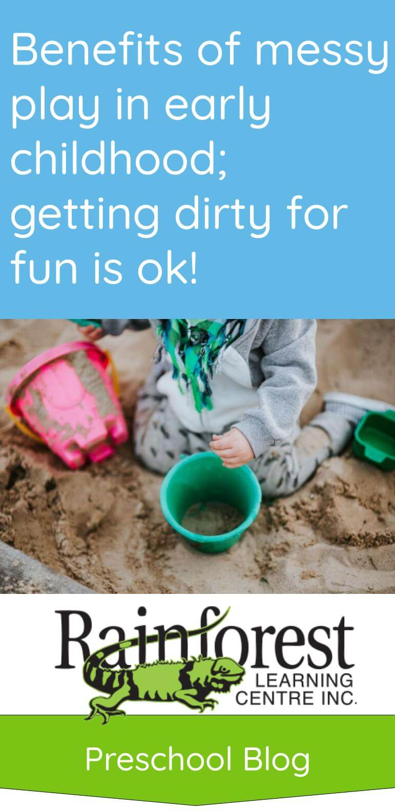 Benefits of messy play in early childhood - article Pinterest image