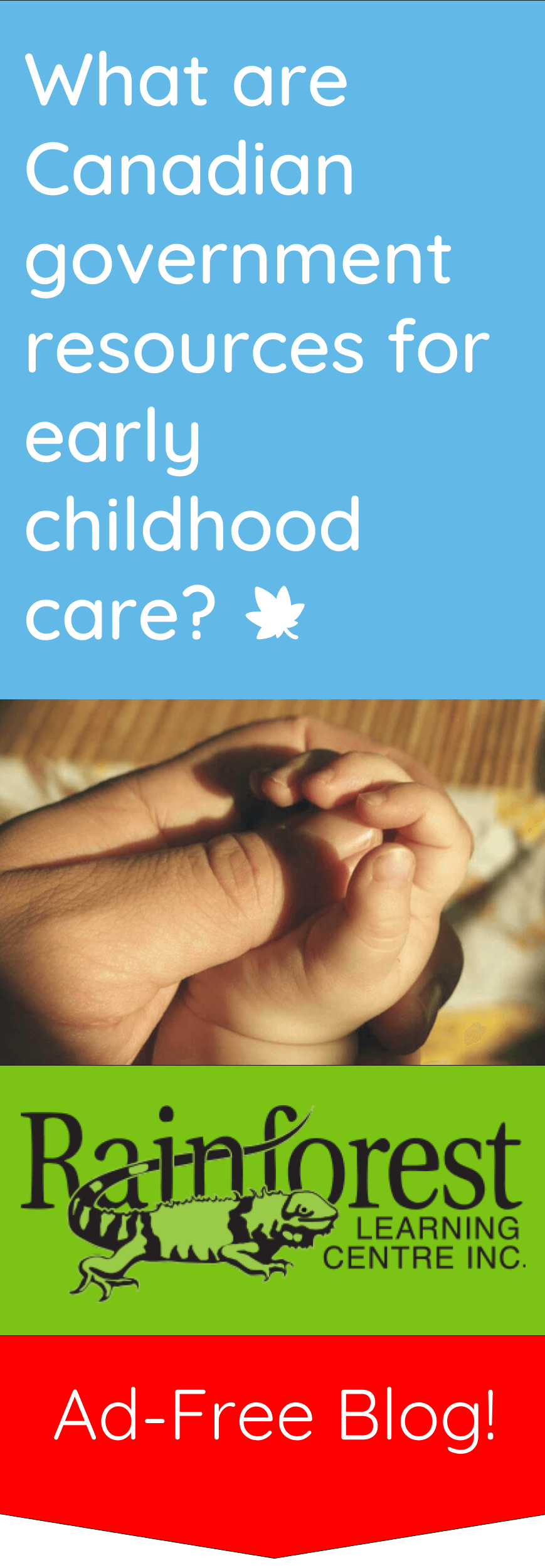 Canadian government resources for childcare article - pinterest image