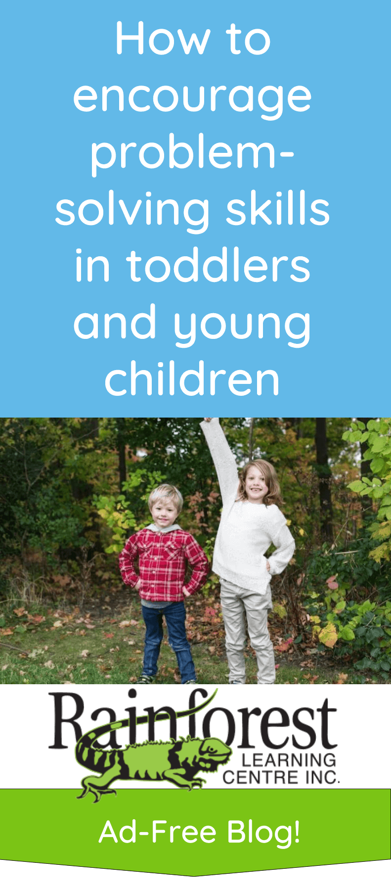 encourage problem-solving skills toddlers and young children article - pinterest image