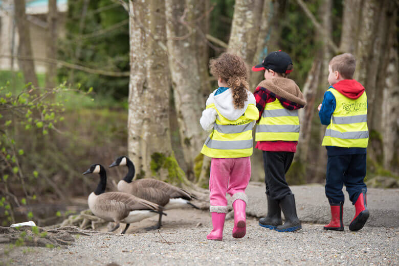 langley daycare kids at the duck pond