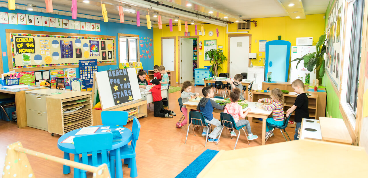 interior of daycare child care centre in langley