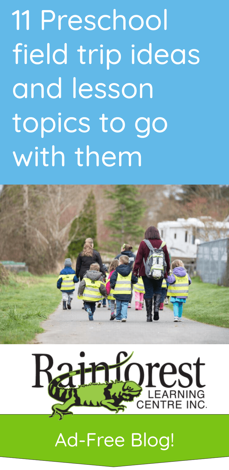 preschool field trip ideas and lessons to go with them - article pinterest image